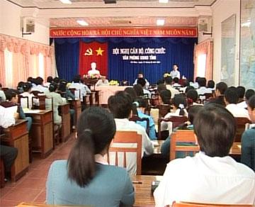 Hội nghị cán bộ công chức Văn phòng UBND tỉnh