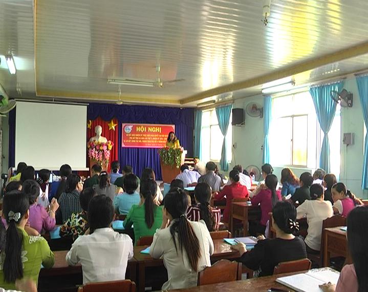 Hội nghị sơ kết giữa nhiệm kỳ thực hiện Nghị quyết Đại hội đại biểu phụ nữ tỉnh Cà Mau lần thứ X (nhiệm kỳ 2011 - 2016)