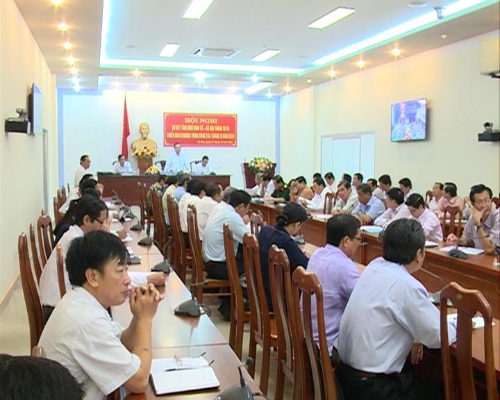 UBND tỉnh họp sơ kết tình hình kinh tế - xã hội tháng 10