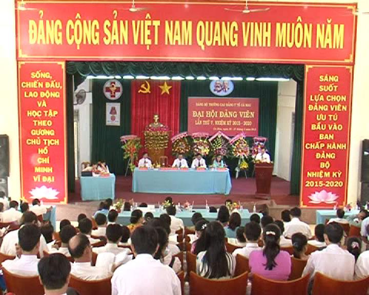 Đại hội Đảng bộ Trường Cao đẳng Y tế Cà Mau