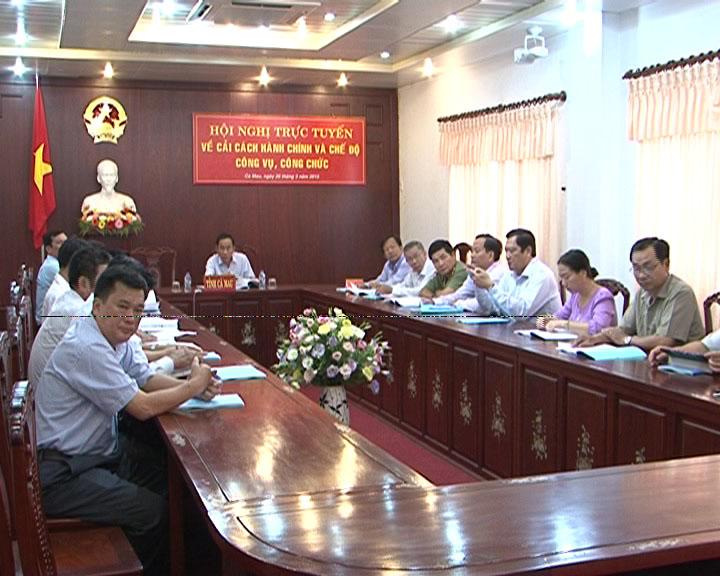 Hội nghị trực tuyến về cải cách hành chính
