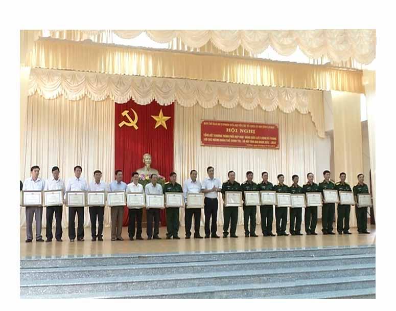 Tổng kết công tác phối hợp giữa lực lượng vũ trang với các ngành, đoàn thể