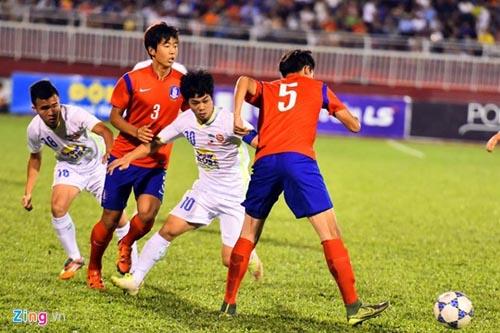 Thua U19 Hàn Quốc 0-1, U21 HAGL gặp khó