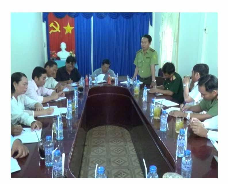 Lãnh đạo U Minh kiểm tra công tác phòng cháy chữa cháy rừng mùa khô 2015 - 2016