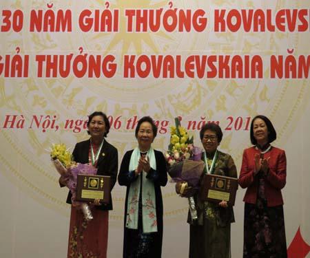 Nhà khoa học, nữ bác sĩ nhận Giải thưởng Kovalevskaia