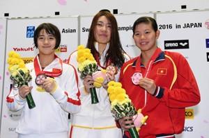 Ánh Viên thâu tóm 4 huy chương tại Giải vô địch châu Á