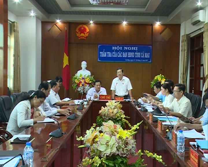 Ban Dân tộc HĐND tỉnh Cà Mau thẩm tra tờ trình, dự thảo nghị quyết
