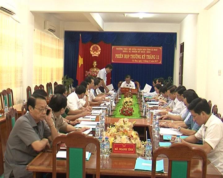Thường trực HĐND tỉnh Cà Mau tổ chức phiên họp thường kỳ tháng 11