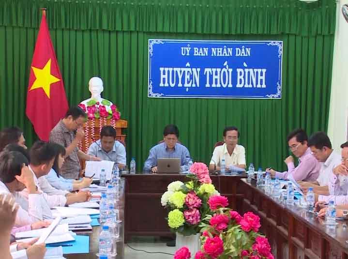 Phó Chủ tịch UBND tỉnh Cà Mau Lê Văn Sử làm việc tại huyện Thới Bình