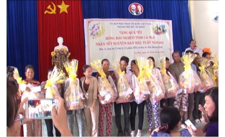 Ủy ban MTTQ Việt Nam tỉnh Cà Mau vận động 600 suất quà cho hộ nghèo