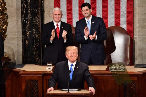 Tổng thống Mỹ đọc Thông điệp liên bang 2018