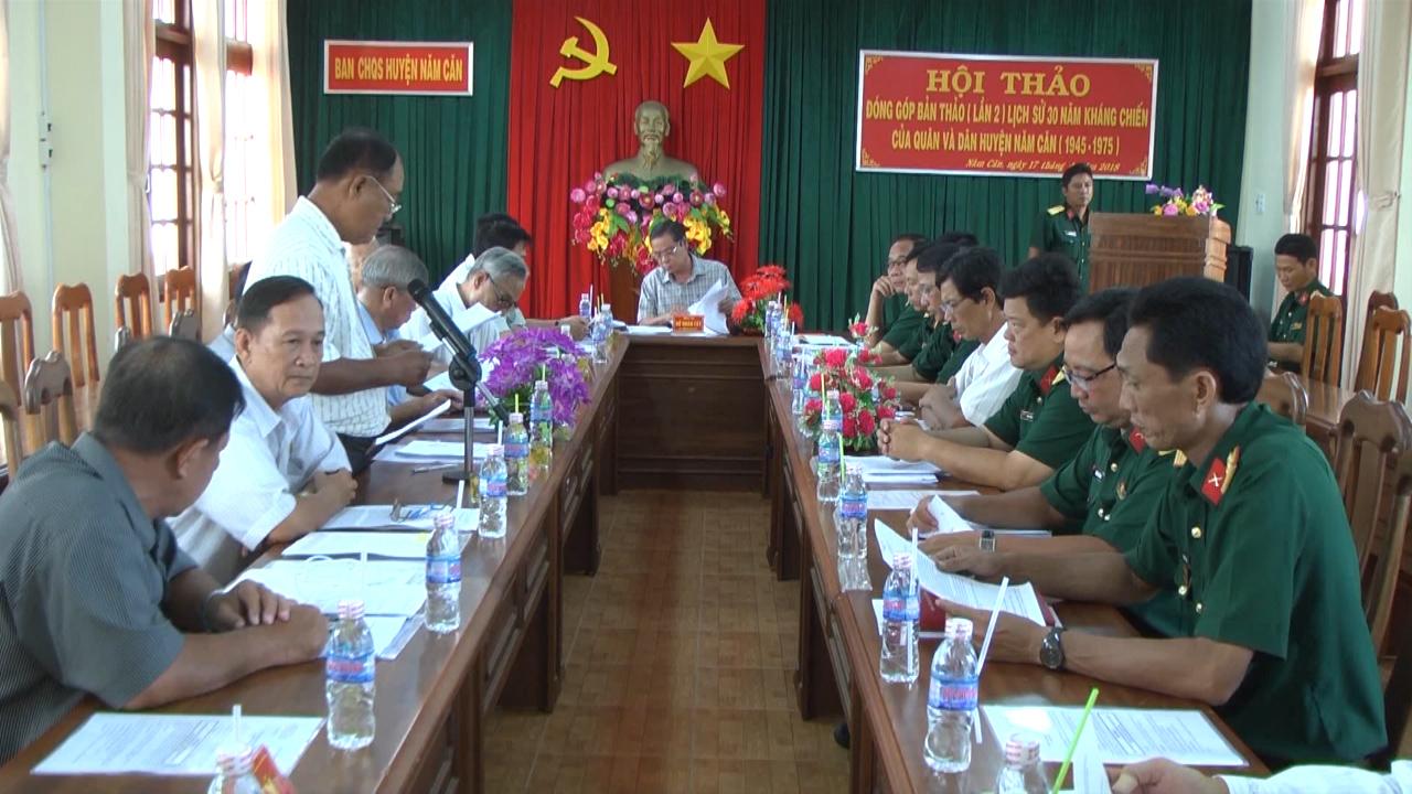 Huyện Năm Căn hội thảo đóng góp bản thảo lịch sử 30 năm kháng chiến
