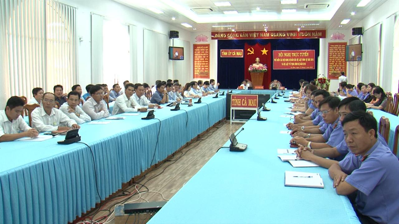 Hội nghị trực tuyến phổ biến Bộ luật Hình sự năm 2015