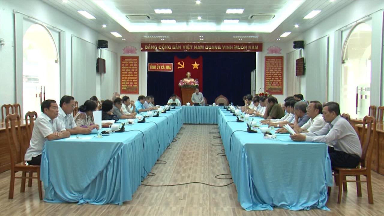 Tỉnh ủy Cà Mau gặp mặt nguyên lãnh đạo tỉnh đã nghỉ hưu
