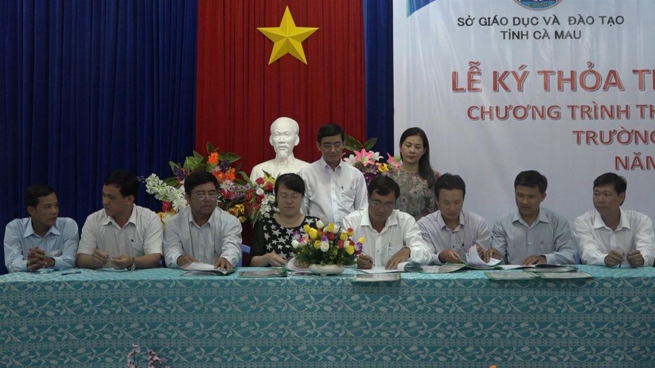 Sở GD-ĐT Cà Mau ký kết Chương trình thư viện thân thiện trường tiểu học với Tổ chức Room To Read tại Việt Nam