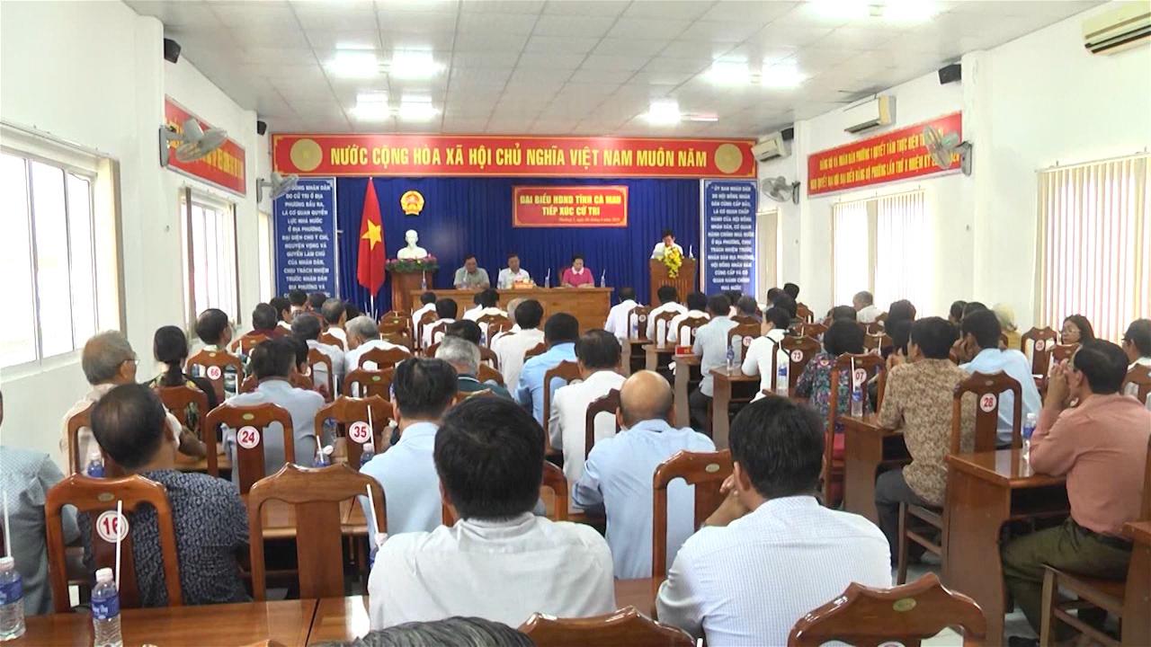 HĐND tỉnh Cà Mau tiếp xúc cử tri phường 1, thành phố Cà Mau
