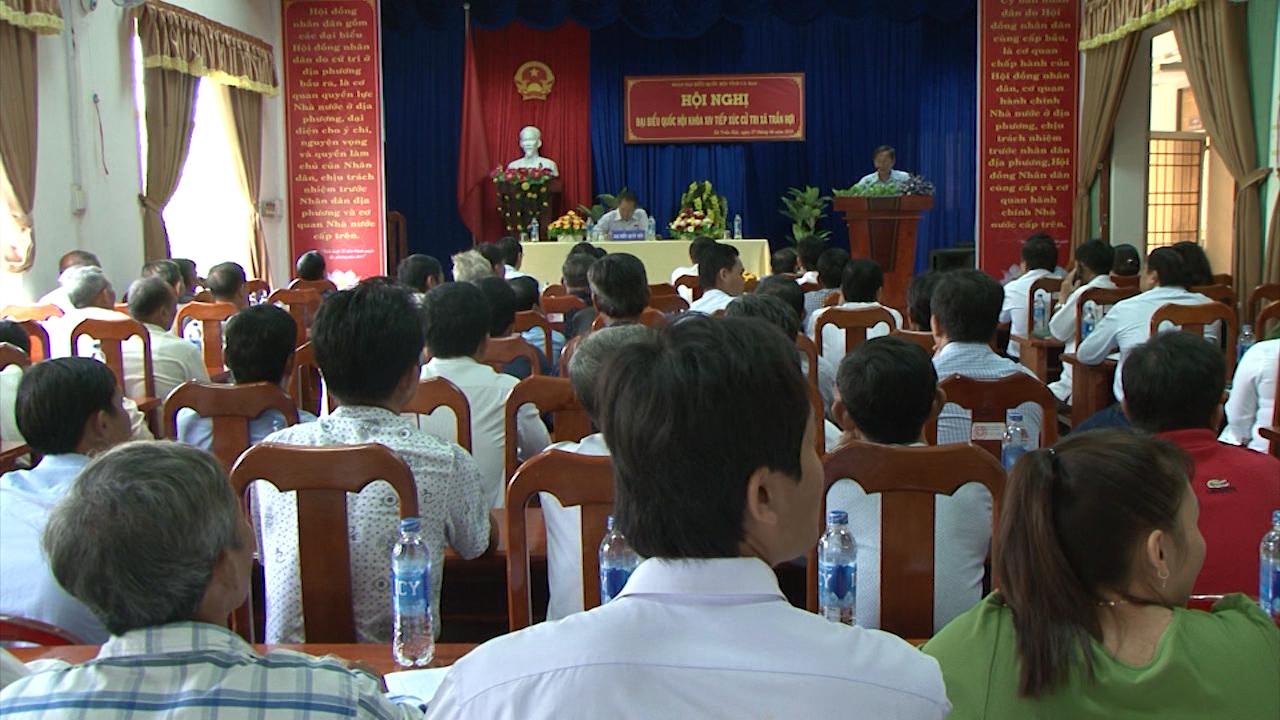 Đoàn Đại biểu Quốc hội tỉnh Cà Mau tiếp xúc cử tri