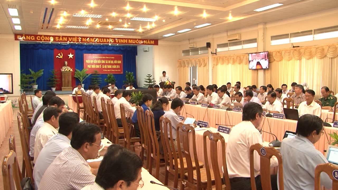 UBND tỉnh Cà Mau kiểm điểm công tác chỉ đạo, điều hành phát triển kinh tế - xã hội tháng 5