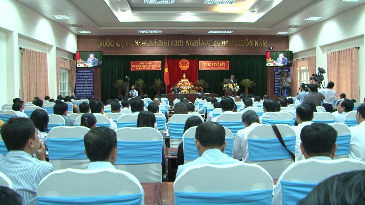 Khai mạc kỳ họp thứ sáu, HĐND tỉnh Cà Mau khoá IX, nhiệm kỳ 2016 - 2021