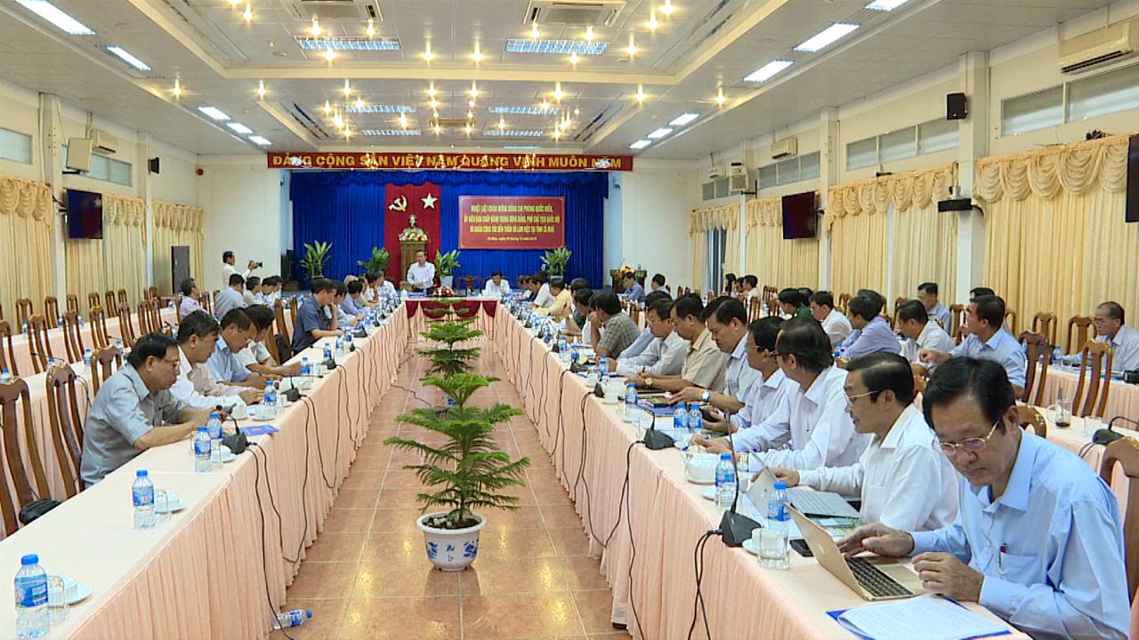 Phó Chủ tịch Quốc hội Phùng Quốc Hiển làm việc tại tỉnh Cà Mau