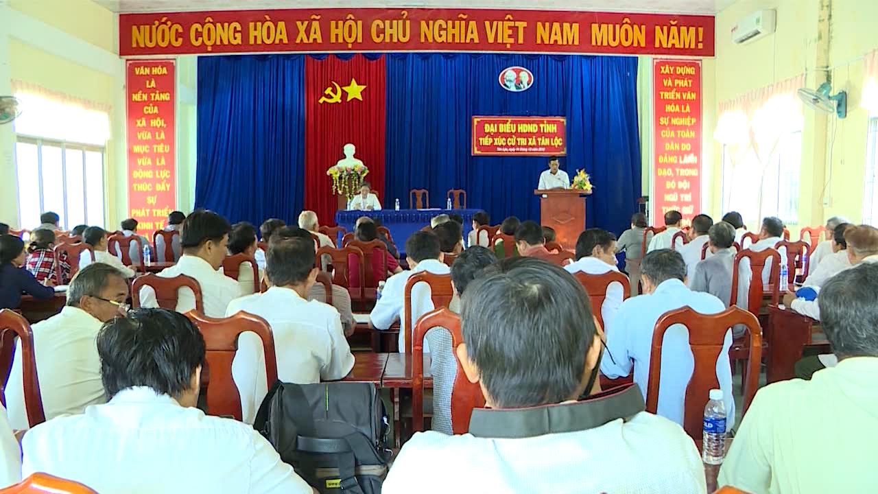 Đại biểu HĐND tỉnh Cà Mau tiếp xúc cử tri huyện Trần Văn Thời và Thới Bình