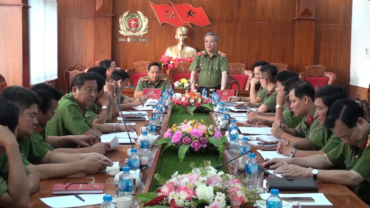 Bộ Công an kiểm tra tại Công an tỉnh Cà Mau