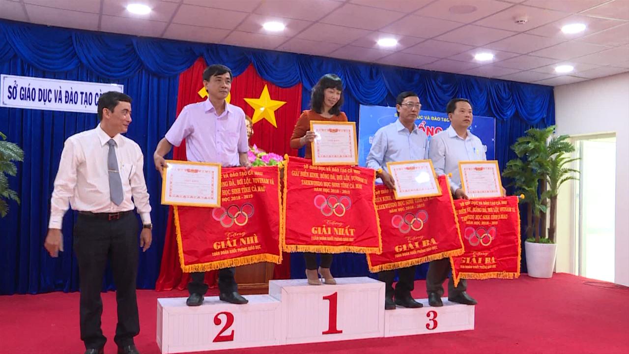 114 bộ huy chương được trao tại Giải thể thao dành cho học sinh tỉnh Cà Mau