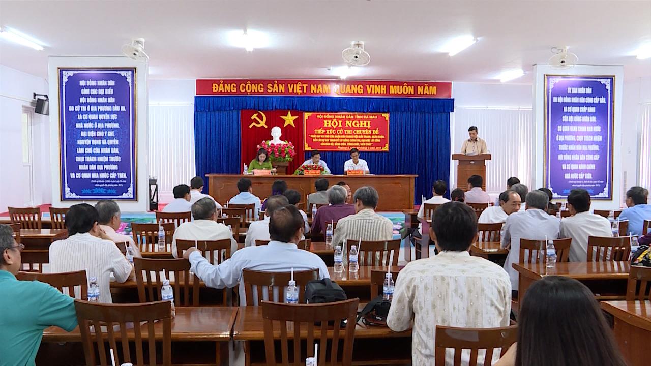 Đại biểu HĐND tỉnh Cà Mau tiếp xúc cử tri theo chuyên đề