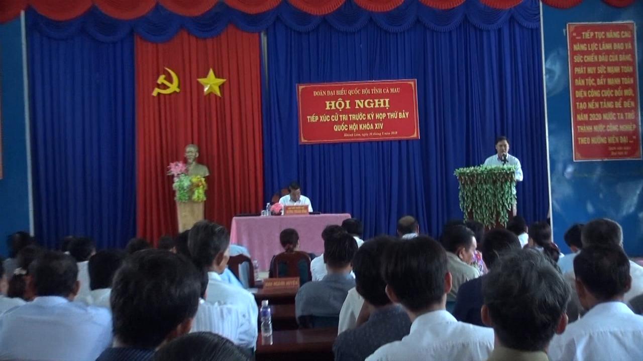 Đại biểu Quốc hội tỉnh Cà Mau tiếp xúc cử tri xã Khánh Lâm, huyện U Minh