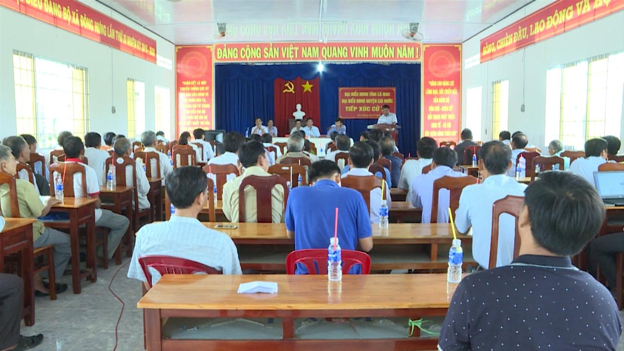 Đại biểu HĐND tỉnh Cà Mau tiếp xúc cử tri
