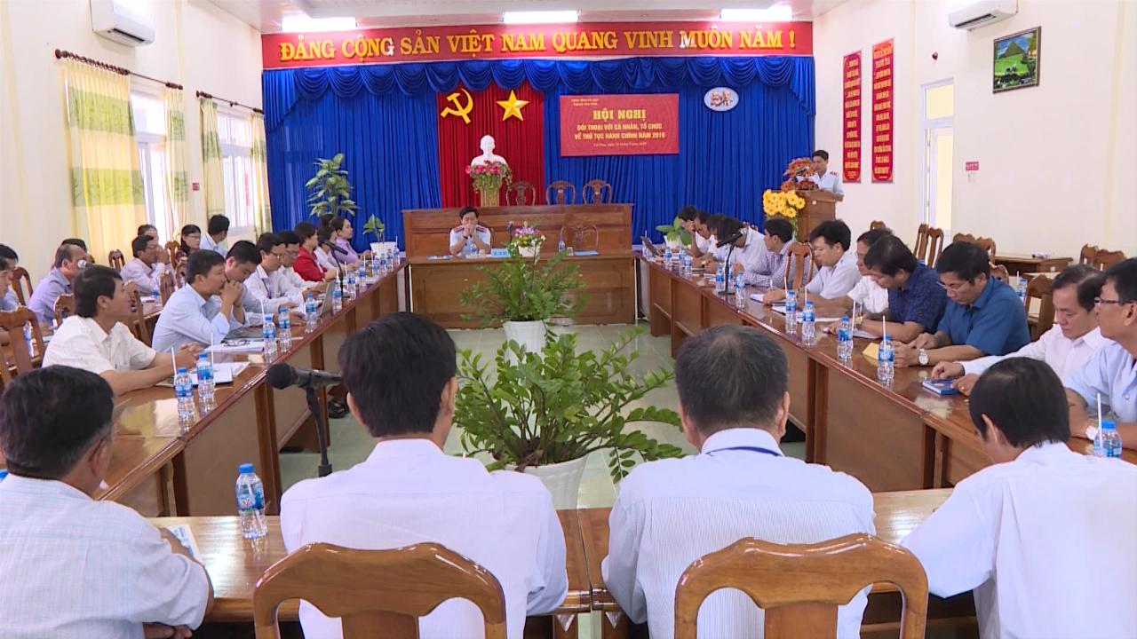 Thanh tra tỉnh Cà Mau đối thoại với tổ chức, cá nhân về thủ tục hành chính
