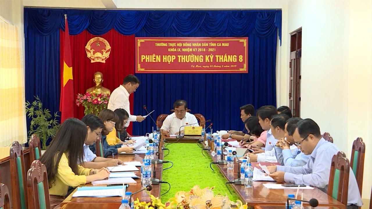 Phiên họp thường kỳ tháng 8 của HĐND tỉnh