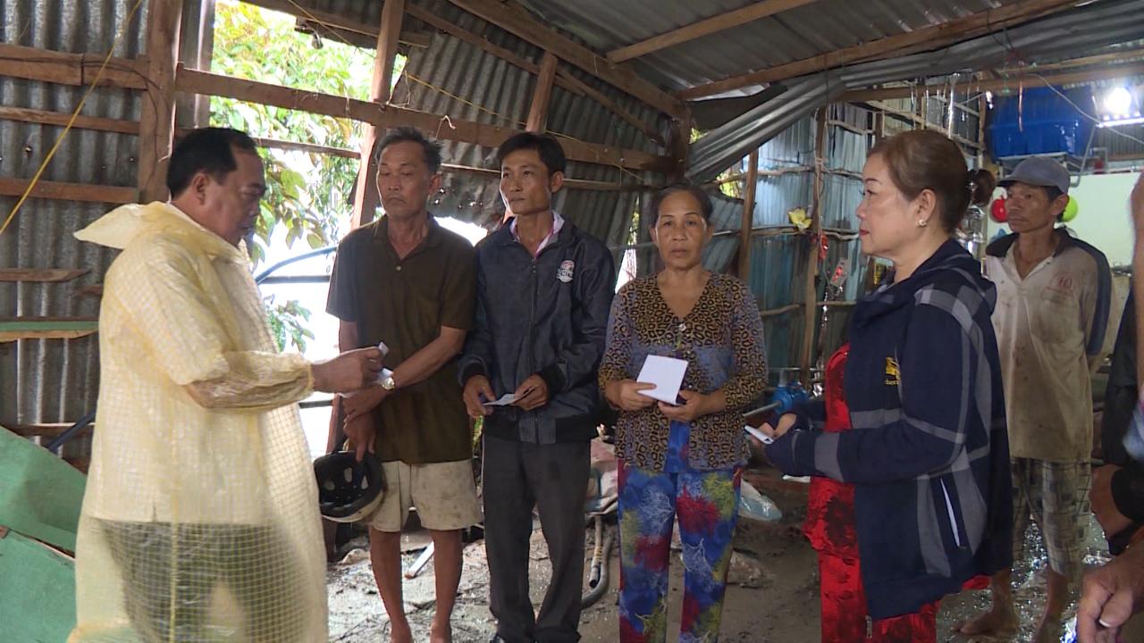 Hỗ trợ 10 hộ gia đình ảnh hưởng thiên tai tại huyện U Minh