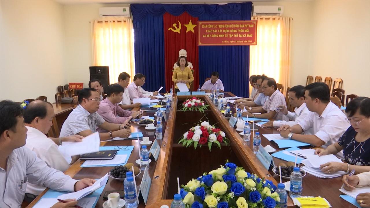Trung ương Hội Nông dân Việt Nam làm việc với Hội Nông dân tỉnh Cà Mau