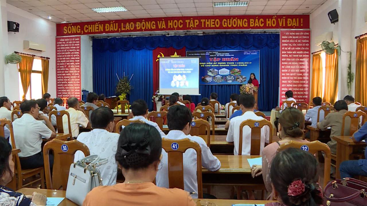 Tập huấn hướng dẫn áp dụng tiêu chuẩn Việt Nam về chợ kinh doanh thực phẩm