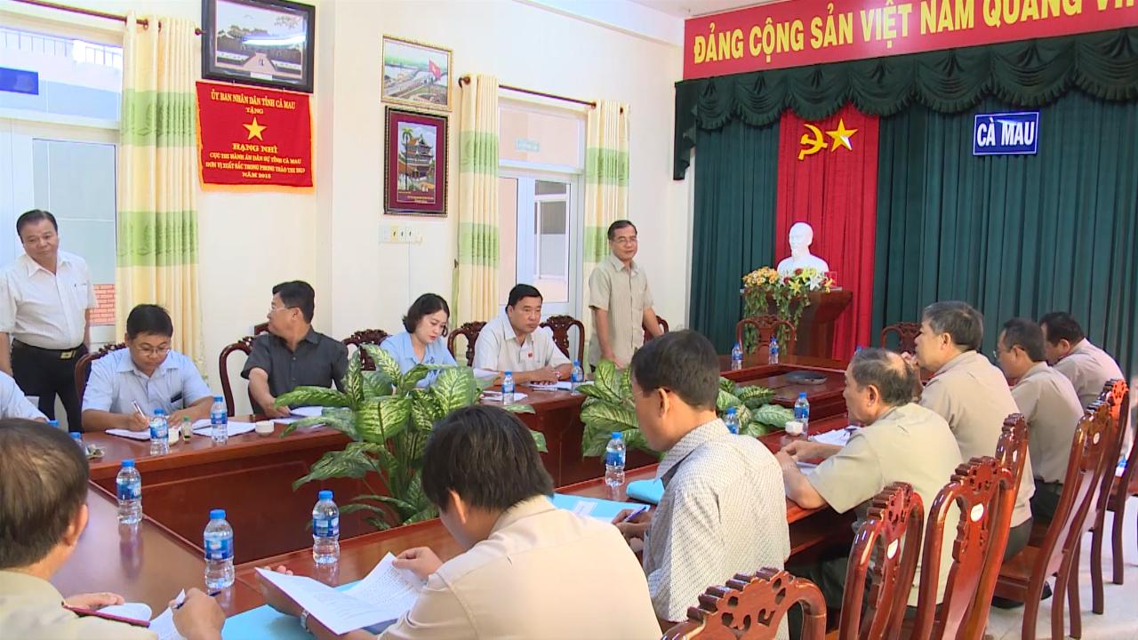 Ban Pháp chế HĐND tỉnh giám sát Cục Thi hành án dân sự tỉnh Cà Mau
