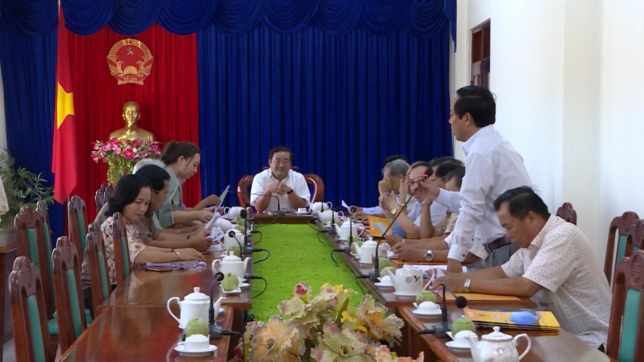 Họp cán bộ hưu trí trước Kỳ họp thứ 11, HĐND tỉnh Cà Mau khóa IX