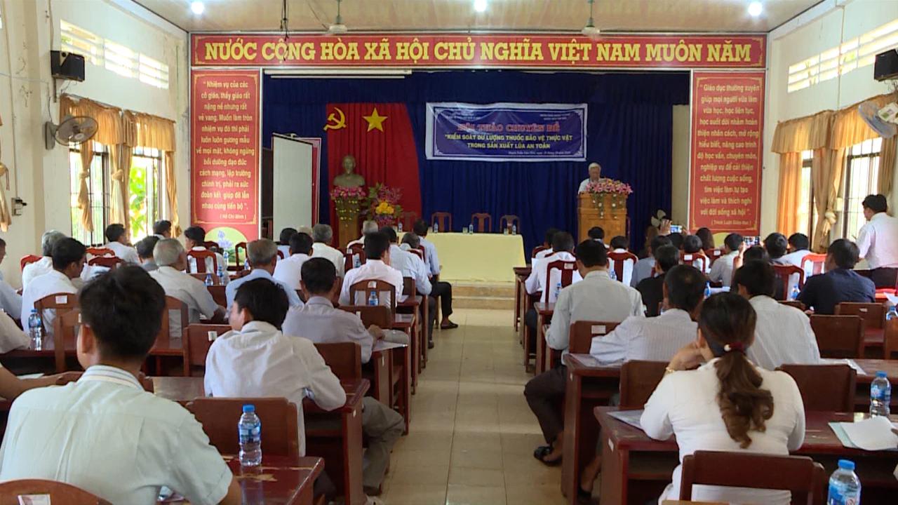 Hội thảo chuyên đề kiểm soát dư lượng thuốc bảo vệ thực vật trong sản xuất lúa an toàn
