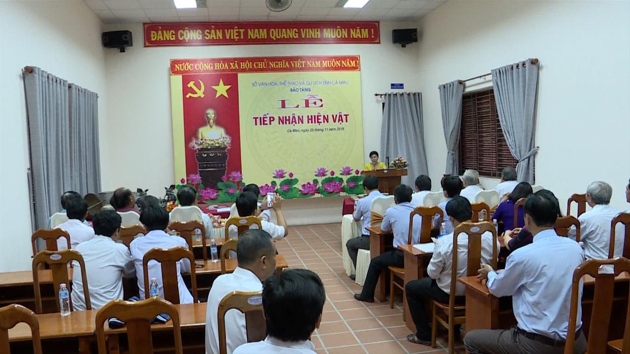 Bảo tàng tỉnh Cà Mau tiếp nhận gần 500 hiện vật