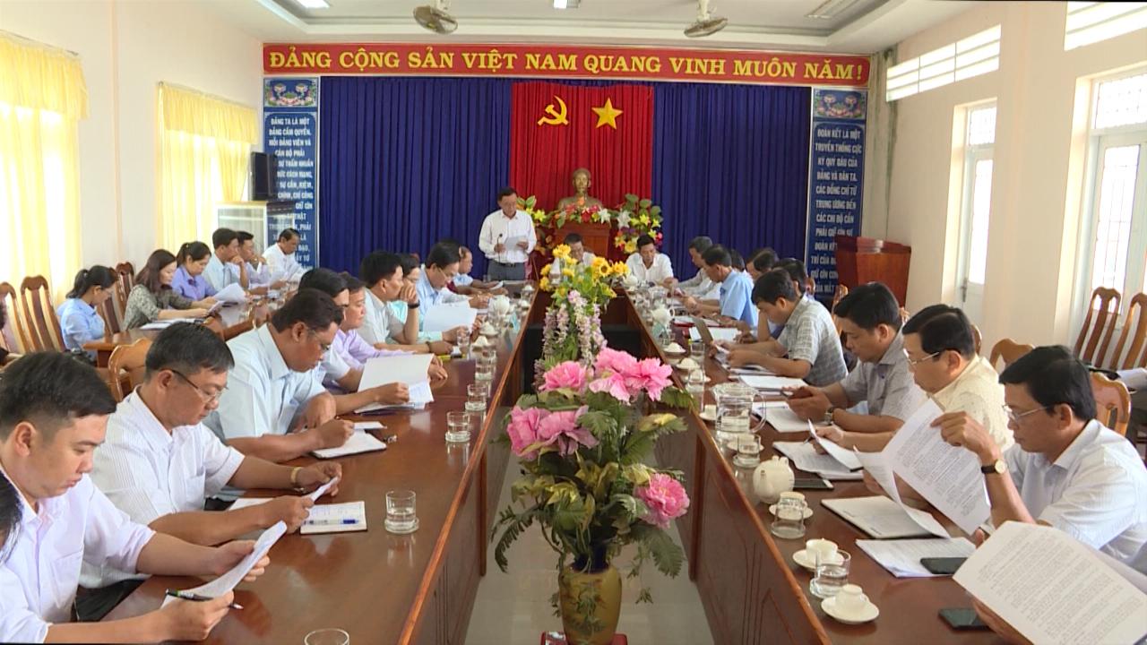 Bí thư Tỉnh ủy Cà Mau Dương Thanh Bình làm việc tại xã Tân Dân, huyện Đầm Dơi