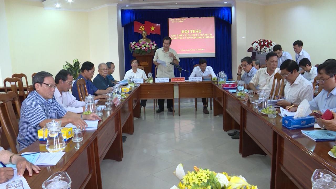 Hội thảo góp ý kiến lược sử ngành Tài chính